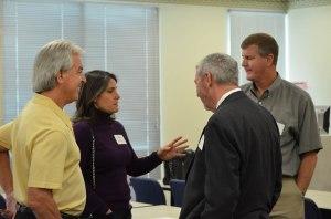 Jim Perrine(L), Mimi Petro(2nd from Left, Glen McDaniel(2nd from Right, Dan Dolan(R)