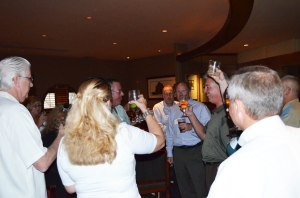 BCA Members Saluting Dave Barber  And His New Position at RCM
