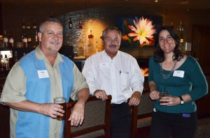 Dave Spear of Beacon Group(l), John Ovitz of Burns Pest Elimination(c),  Mimi Petro of Udall Law Firm(r)